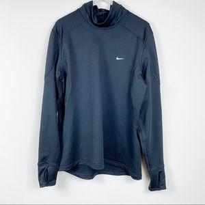 Nike womens black pullover XL mock neck